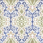 Гранитогресни плочки за под сини орнаменти – Tawriq Blue Natural
