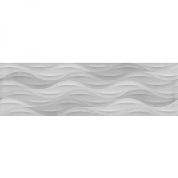 Сиви фаянсови стенни плочки за баня декор на вълни– Tango Grey Wave