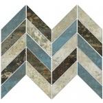 Гранитогрес ефект цветна мозайка – Grunge Mix Lap. Espiga Mosaico