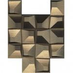 Уникални декорни плочки за баня злато фаянс – Eclectic Gold