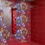 Флорални плочки за баня Dalia от Ceramica Latina (Испания)