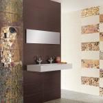 Артистични плочки за баня в топли цветове Pasion от Ceramica Latina (Испания)