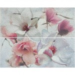 Плочки за баня декорен сет в лилаво – 2 парчета