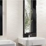 Изтънчени плочки за баня в бяло, кафяво и черно Demon от Mapisa (Испания)