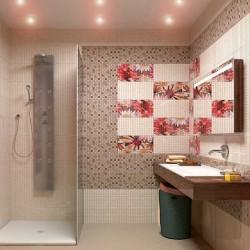 Дизайнерски плочки за артистична баня Mosaico crema на Aparici (Испания)