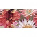 Плочки мозайка с размер 25 x 50  см. Decor Mosaico Crema Flor 1
