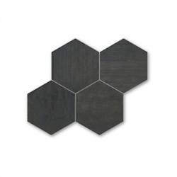 Хексагонови черни плочки гранитогрес – Malla Hexagono Negro P3690