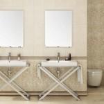 Дизайнерска колекция фаянсови плочки за баня Alessia на Aparici (Испания)