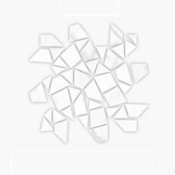 Гранитогрес ефект мрамор натрошена мозайка – Mosaico Necci Blanco