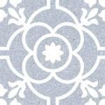 Гранитогрес в синьо декор кралски флорал – Carole Nube G198