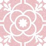 Гранитогрес в червено декор кралски флорал – Carole Coral G198