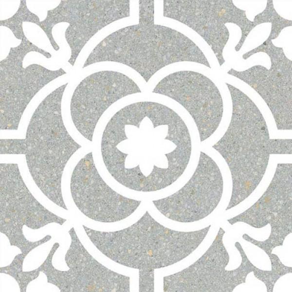 Гранитогрес в морско синьо декор кралски флорал – Carole Mar G198
