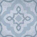 Гранитогрес в небесно синьо декор флорален мотив – Tercello Nube G198