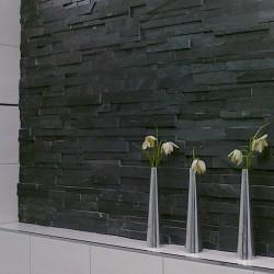Каменни плочки с тухлен ефект Laja Black от TERCOCER (Испания)