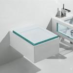 Италианска Окачена тоалетна чиния GLASS - със стъкло в дизайна