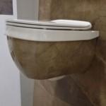 Оригинална тоалетна за вграждане в бежов цвят Abito Bronzo Amani 56