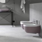 Практична тоалетна за вграждане в розов цвят Abito Old Rose 56 от Hatriа (Италия)