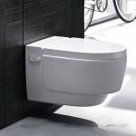 Ултра модерна конзолна тоалетна чиния Geberit AquaClean Mera Comfort