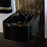 Черно биде за окачване на стена - лукс и елеганс