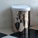 Стояща тоалетна чиния Zefiro - mix цвят платина/Бяло