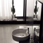 Бяла Кръгла Мивка Geo за вграждане - с отвор за смесител