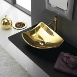 Луксозна Мивка Kong 50 Златен цвят