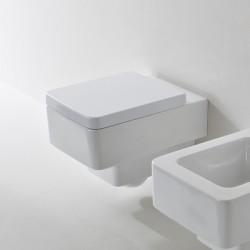 Бяла Окачена тоалетна чиния Teorema - Scarabeo
