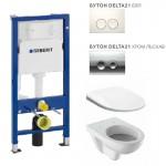 Пакет DUOFIX DELTA 21 с окачен WC моноблок GEBERIT SELNOVA от Geberit (Швейцария)