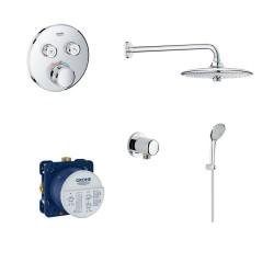 Термостатен комплект за баня вграждане с интелигентен контрол GRT от Grohe (Германия)