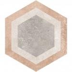 Гранитогрес плочки с размери 23 x 26.6 см. Hexagono Bushmills Multicolor
