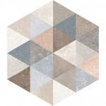 Гранитогрес плочки с размери 23 x 26.6 см. Hexagono Fingal G169